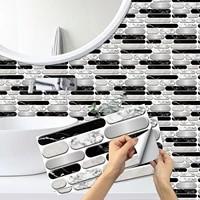 removable waterproof self adhesive mosaic vinyl wall tile kitchen peel and stick backsplash bathroom wall sticker brick pattern