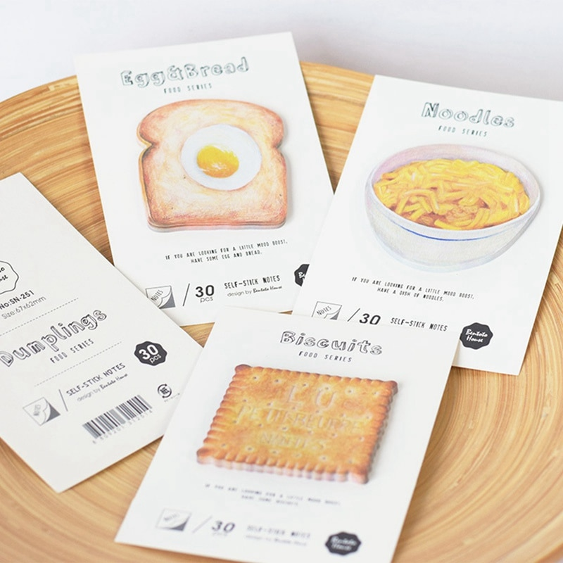1 piezas de papelería creativos de Corea de dibujos animados lindo comida nota Bloc de notas N veces pasta de papel de nota adhesiva