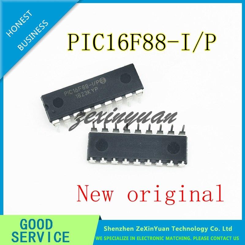 5PCS/LOT  PIC16F88-I/P PIC16F88 DIP18 New original
