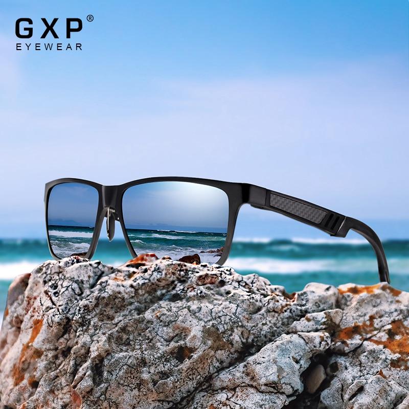 GXP Aluminum Magnesium Frame Men Women Polarized Sunglasses Driving fishing Sun Glasses HD UV400 Squ
