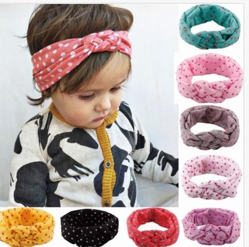 Lindas diademas para bebés, punto para recién nacidos, lazos, cintas para el pelo infantil, cintas para el pelo para niños y niñas ACC91