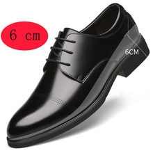 Height Increasing Shoes Men Taller Elevator 6CM Invisible Insole For Men Heighten Increased Oxfords