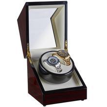 18x18x20CM Rot Holz Automatische Uhr Wickler Box HOLZ Uhrenbeweger Horlogeopwinder Wicklung Mover Motor Shaker Rotator sarg