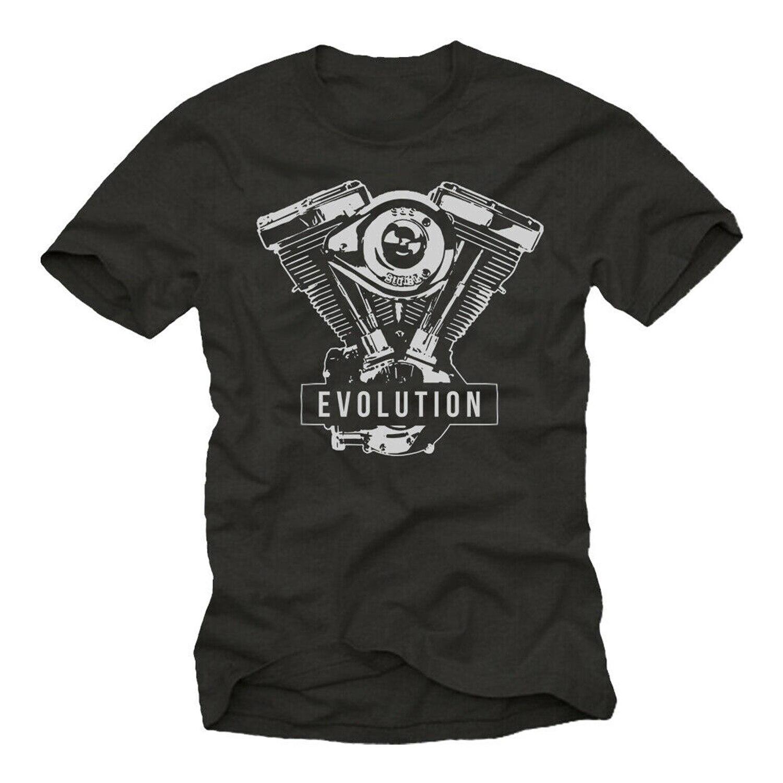 V2 Evolution Engine. Biker Motorcycle Gifts Rocker T-Shirt. Summer Style Cotton O-Neck Short Sleeve Mens T Shirt New Size S-3XL
