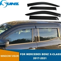 weathershield window visor weather shield for mercedes benz x class 2017 2018 2019 2020 2021 smoked weather deflector adhesive