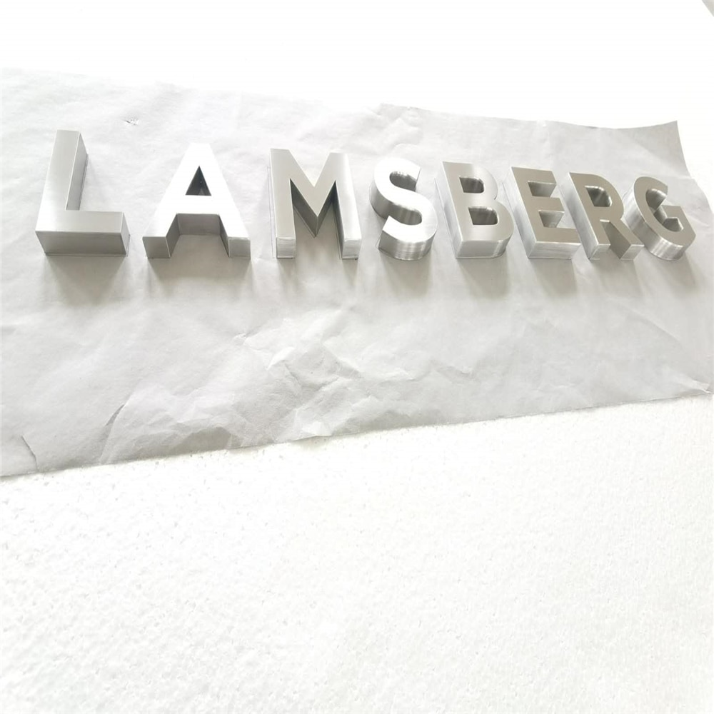 Factory Outlet Outdoor brushed metal letters,stain stainless steel sign letterings store name sign words