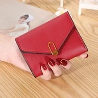 summer small women wallet short fashion leather bags female mini clutch solid color card holder girls coin purses monedero mujer