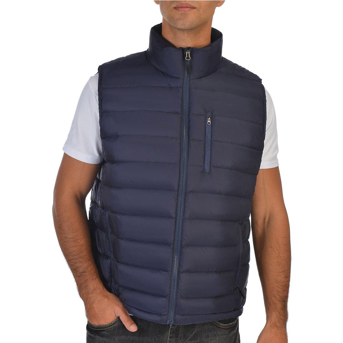 Winter Men Duck Down Vest Lesmart Light Puffer Jacket Sleeveless Coats Warm Gilet Autumn Windproof Duck Down Waistcoat
