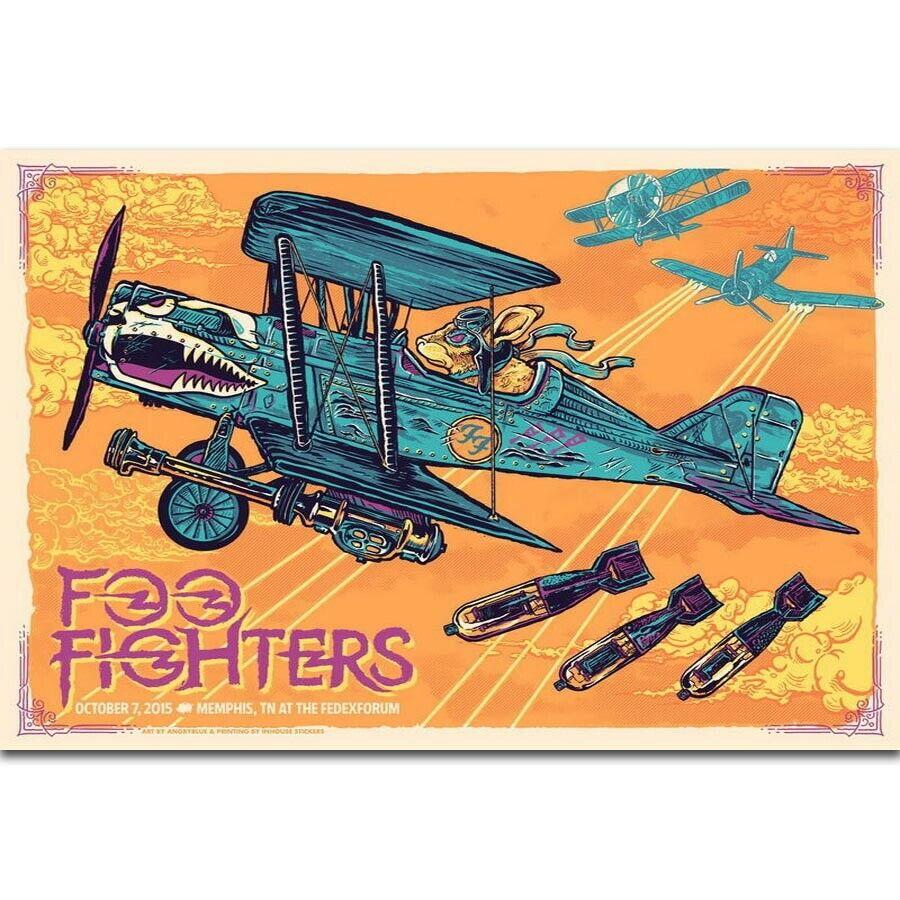 Foo fighters banda de rock americano dave grohl música estrela de seda cartaz da parede arte decoração adesivo brilhante
