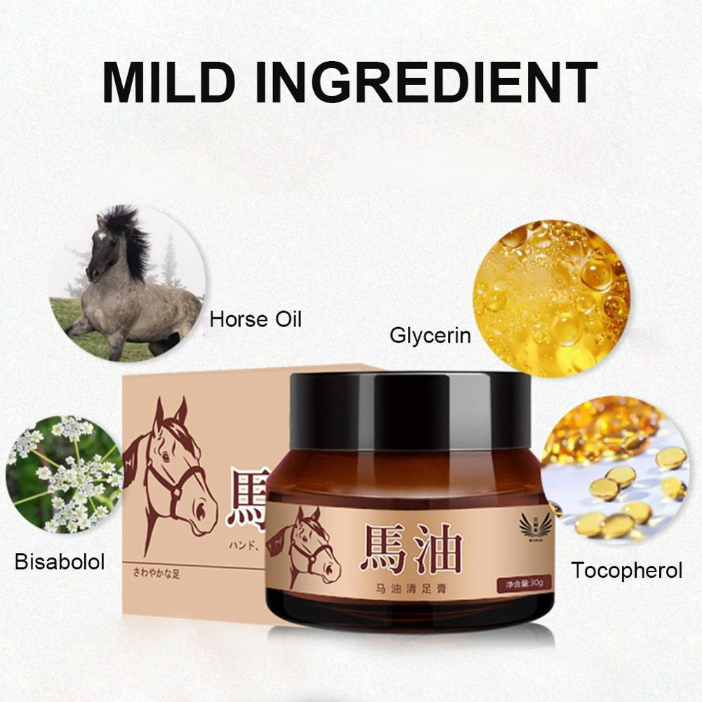 30ml Horse Oil Foot Cream Foot Hand Skin Smoothing and Moisturizing Skin Care Cream Wrinkle Treatmen