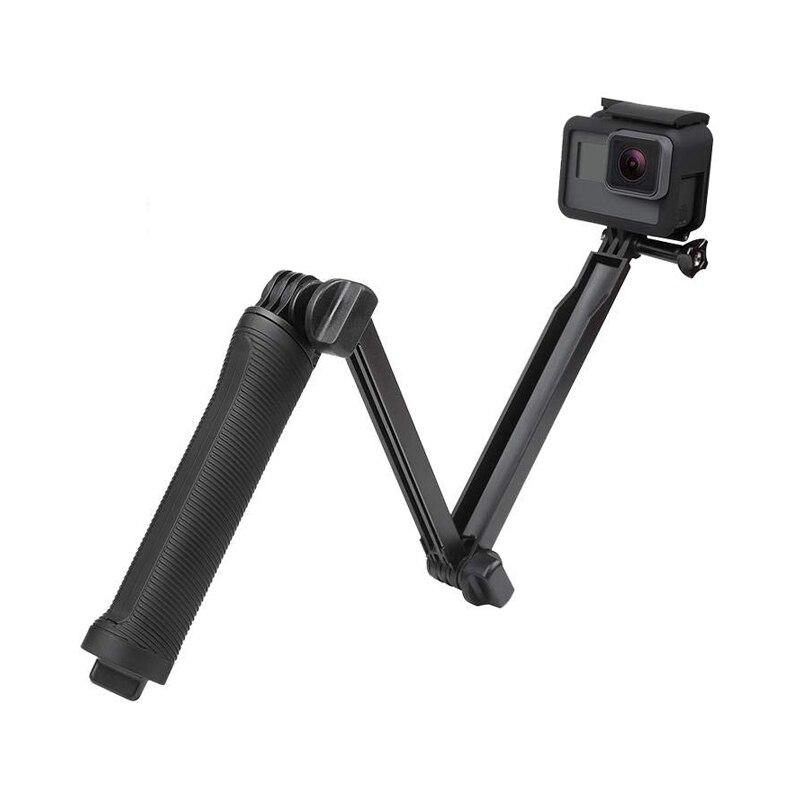 Agarre de 3 vías impermeable palo selfie monopie trípode soporte para GoPro Hero 7 6 5 4 sesión para Yi 4K Sjcam Eken para Go Pro accesorio