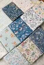 50cm * 160cm/pièce, 2020 tissu de coton sergé fleuri Vintage, chemise habillée, robe, nappe, tissu de rideau, matériel fait main bricolage