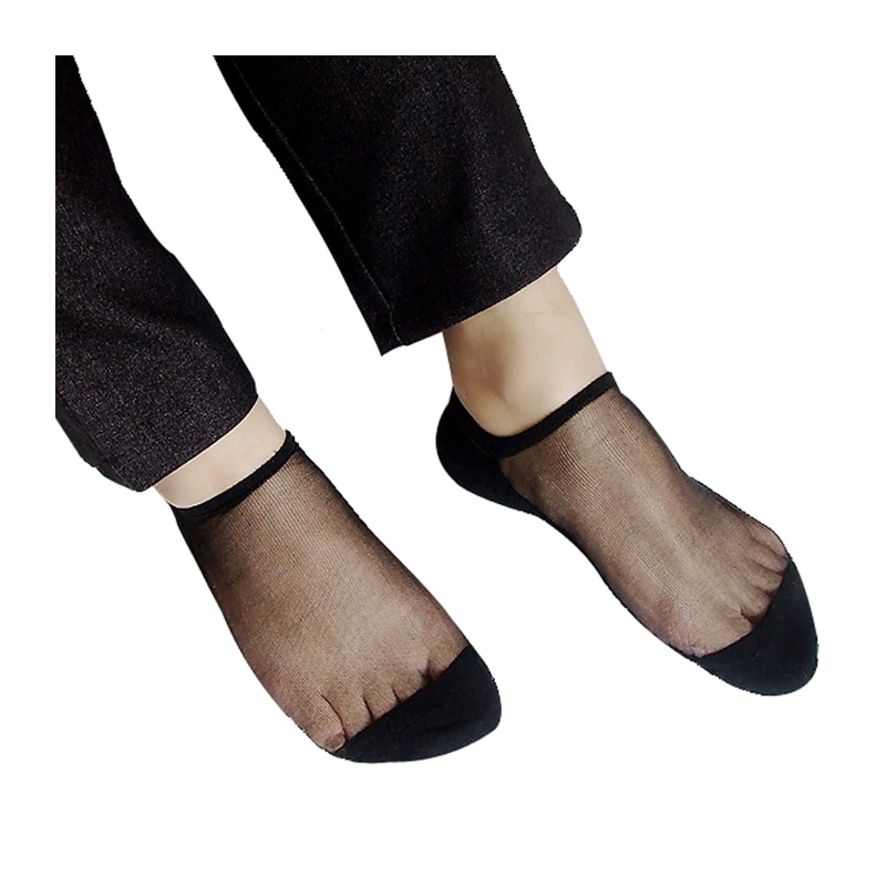جوارب سوداء مثيرة للرجال من الحرير الشفاف والمثير جوارب رسمية شفافة للمثليين جوارب مناسبة للجورب 1 زوجًا من الصور الحقيقية