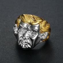 Popular jewelry USA President Trump stainless steel Ring Men Rings American President Trendy Rock Punk Hip Hop ring