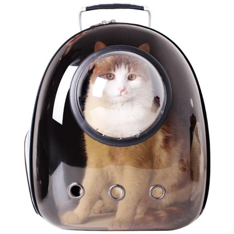 المحمولة شفافة حقيبة حمل الحيوانات الأليفة موضة حقيبة قطة الحيوانات الأليفة خارج حقيبة قابل للغسل أربعة مواسم العالمي مريحة وواسعة