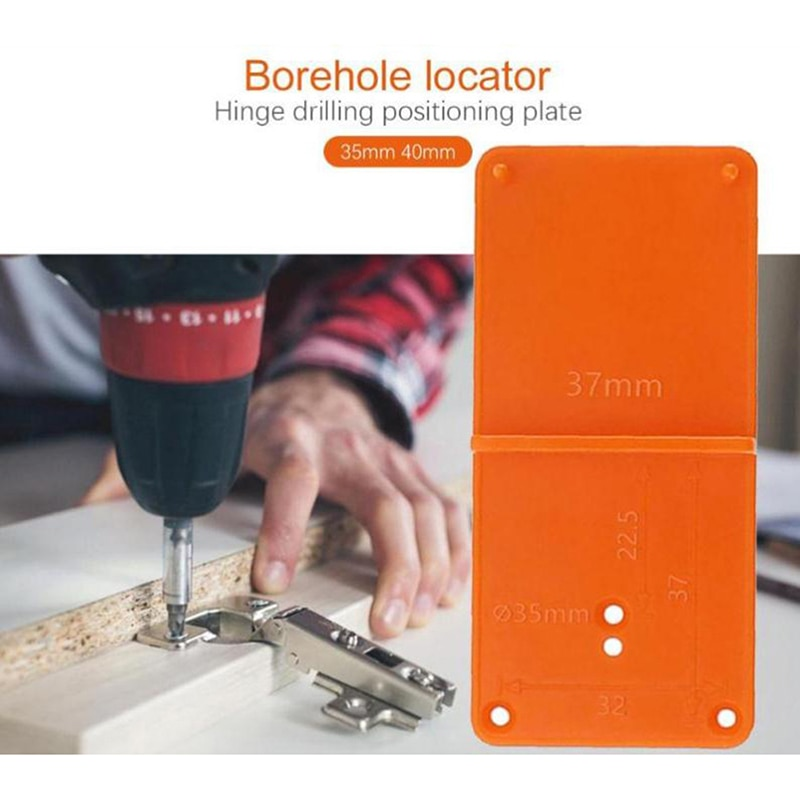 35mm 40mm Hinge Hole Drilling Guide Locator Hole Opener Template Door Tools For Woodworking 1Pc