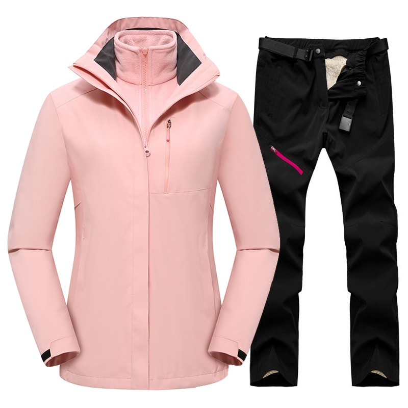 Winter Ski Jackets And Pants Set Women Outdoor Sports High Quality Warm Ski Suit Windproof Waterproof Snow Snowboard Jackets
