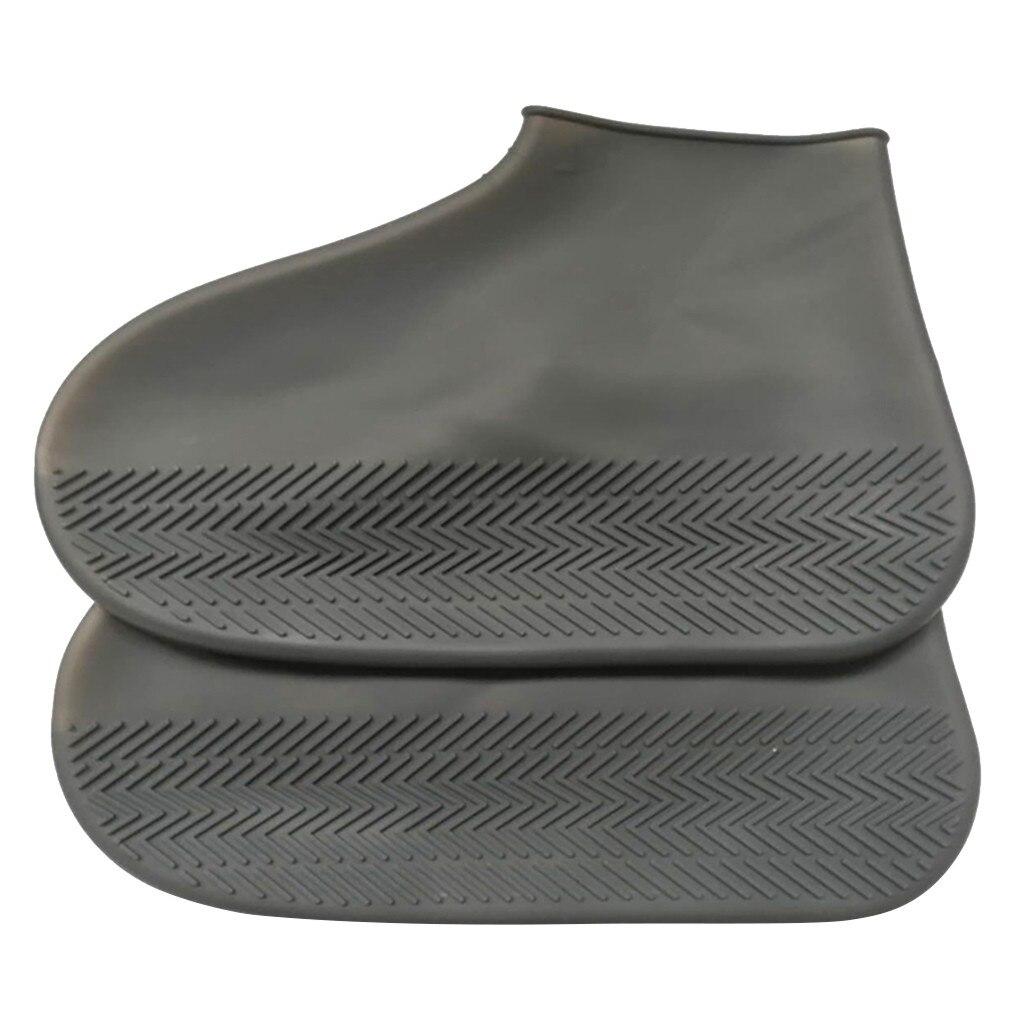 Botas de Sapato Botas de Água Unissex Chuva Cobre Crianças Reutilizáveis Pvc Borracha Antiderrapante Capa Dia Chuvoso Masculino Feminino Tamanho 32-43 A40