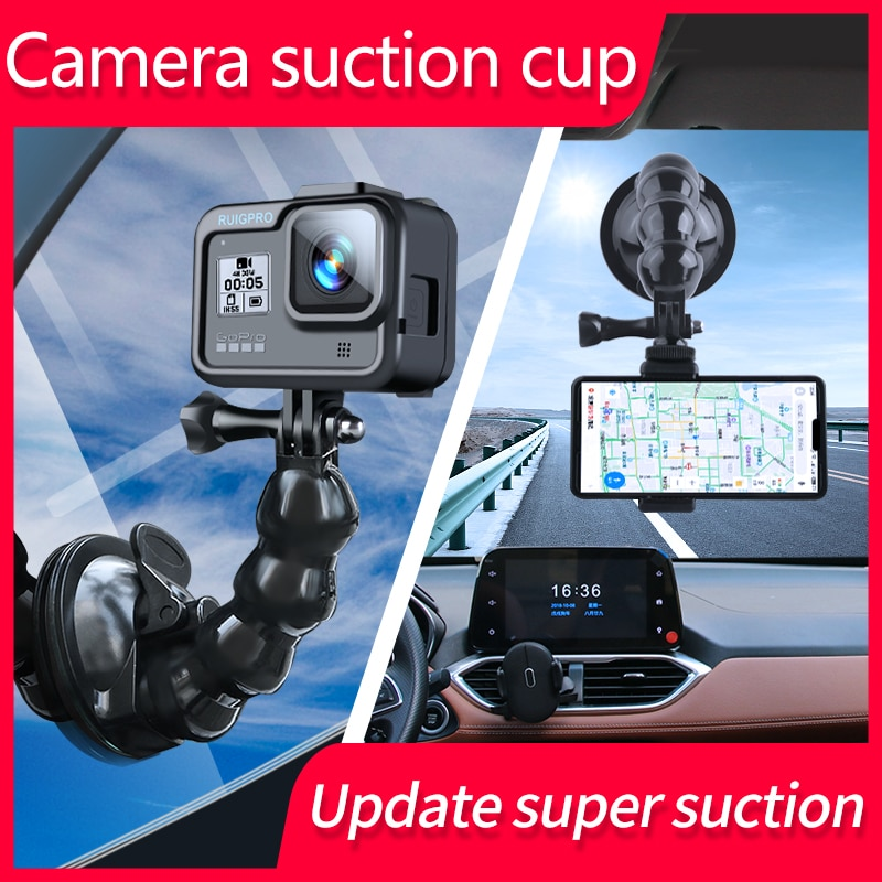 Mini Action Camera Suction Cup for GoPro Hero 9 8 7 5 6 4 Sony SJCAM SJ7 Yi 4K H9 Go Pro 7 Mount Window Glass Sucker Accessory