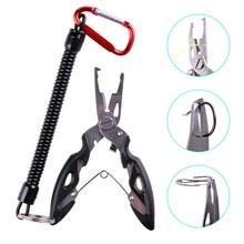 Alicates de pesca, tijeras de corte de línea de pescado, Mini removedor de anzuelos, herramientas multifunción, nueva mandíbula de pico negro