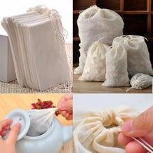 Sacs réutilisables avec cordon en mousseline de coton, 10/100 pièces, 8x10, nouvelle collection pour les herbes, savon, thé