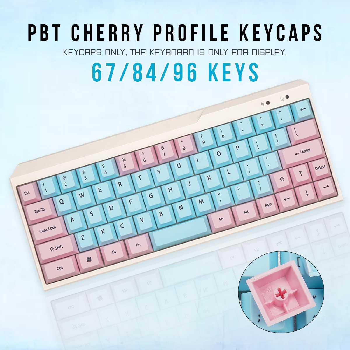 78/98/122 مفاتيح Keycap الوردي الأزرق مفتاح غطاء مجموعة الكرز الشخصي PBT التسامي كيكابس للوحة المفاتيح الميكانيكية