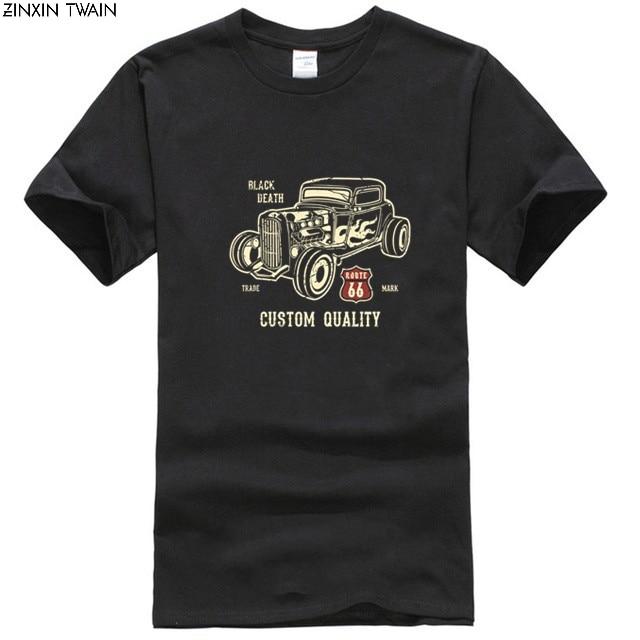 2019 Fashion Summer Style shirt Hot Rod Custom V8 Rockabilly Old school route 66 custom Tee shirt