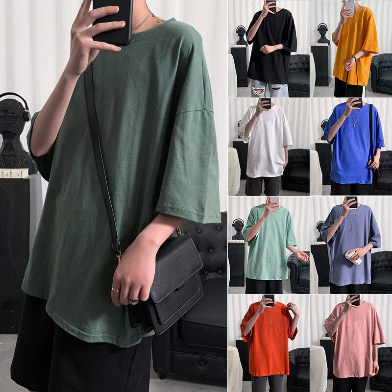 Oversized T Shirt Men Bodybuilding and Fitness Loose Casual Lifestyle Wear T-shirt Male Streetwear Hip-Hop Tops Unisex