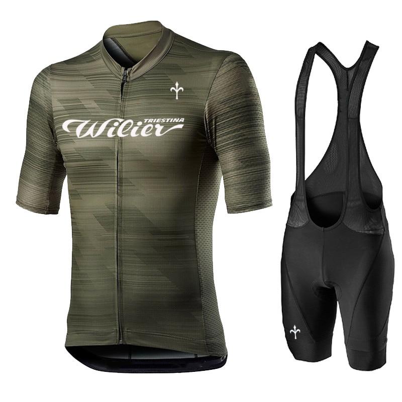 Wilier New Cycling Jersey Men Bike Suit Maillot Ciclismo Ropa Summer Short Sleeve Shirts Bib Shorts Sets Mtb cycles Kit