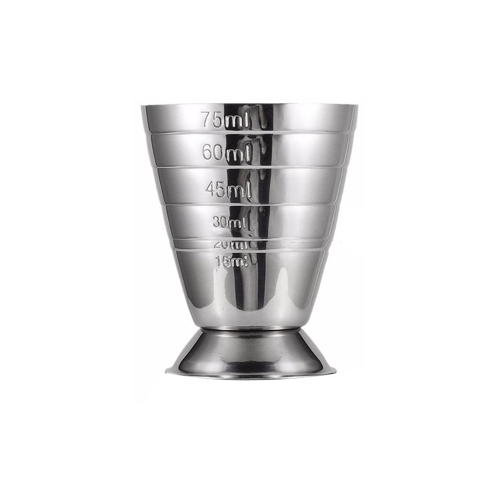Mezclador de medidas de escala de acero inoxidable de 75ML, coctelera, Pub, Bar, taza, mezclador de bebidas, herramienta de medición