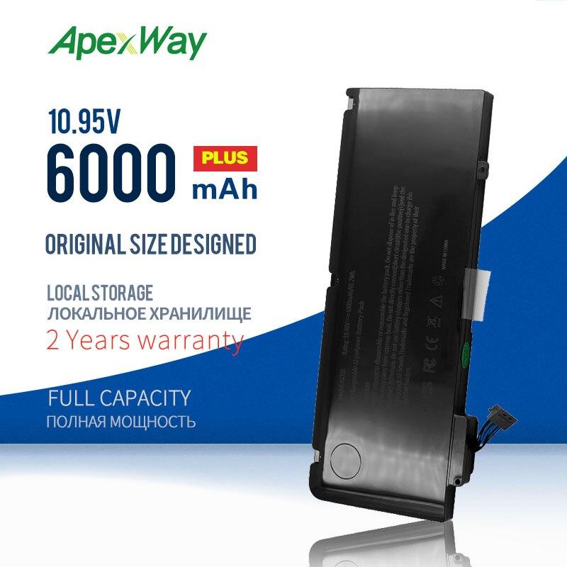 ApexWay جديد بطارية كمبيوتر محمول ل أبل ماك بوك برو 13