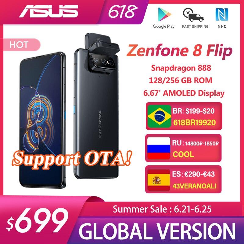 Оригинальная материнская плата ASUS Zenfone 8 флип-глобальная версия Snapdragon 888 8 Гб Оперативная память 128/256 ГБ Встроенная память 6,67 дюйм 5000 мАч NFC Android OTA ...