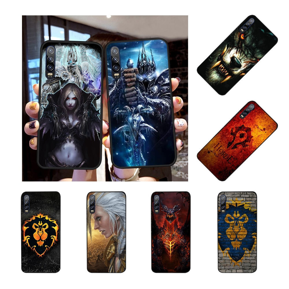 NBDRUICAI Wows mundo de Warcraft negro TPU de suave goma de la cubierta del teléfono para Huawei Honor 20 10 9 8 8x 8c 9x 7c 7a Lite ver