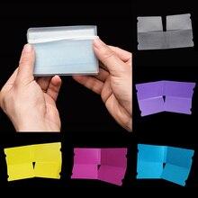 20 PIÈCES Transparent Étui Pliant Masque de Bouche De Clip De Fixation Portable Sac De Rangement Anti-poussière Sac de Couverture de Poche