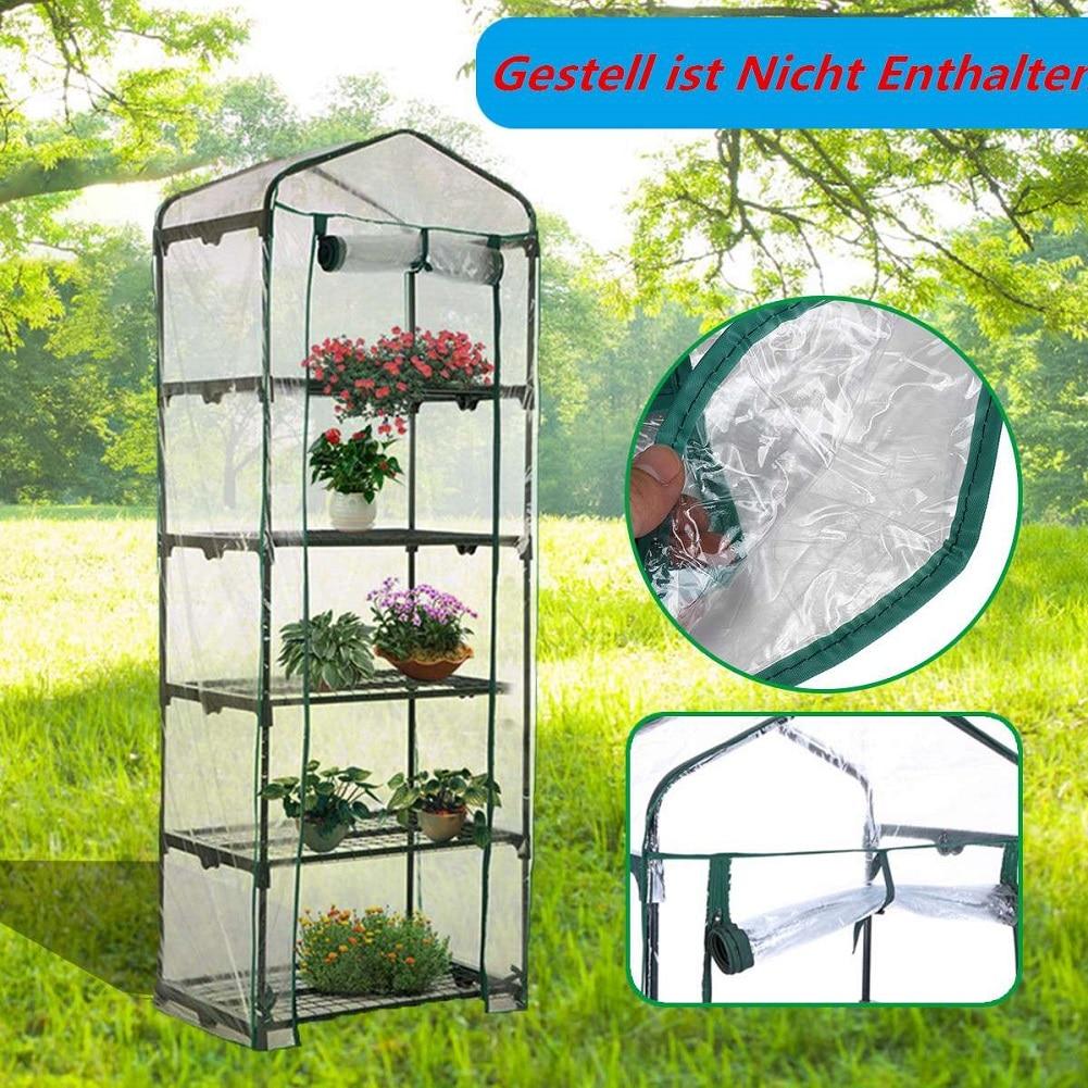 Invernadero verde de cinco plantas para el hogar, Mini jardín cálido de PVC, 187x69x49CM transparente. Fácil instalación