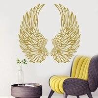 Autocollant mural ailes dange  autocollant en vinyle  decoration de maison  decoration de chambre a coucher a la mode  affiche E525