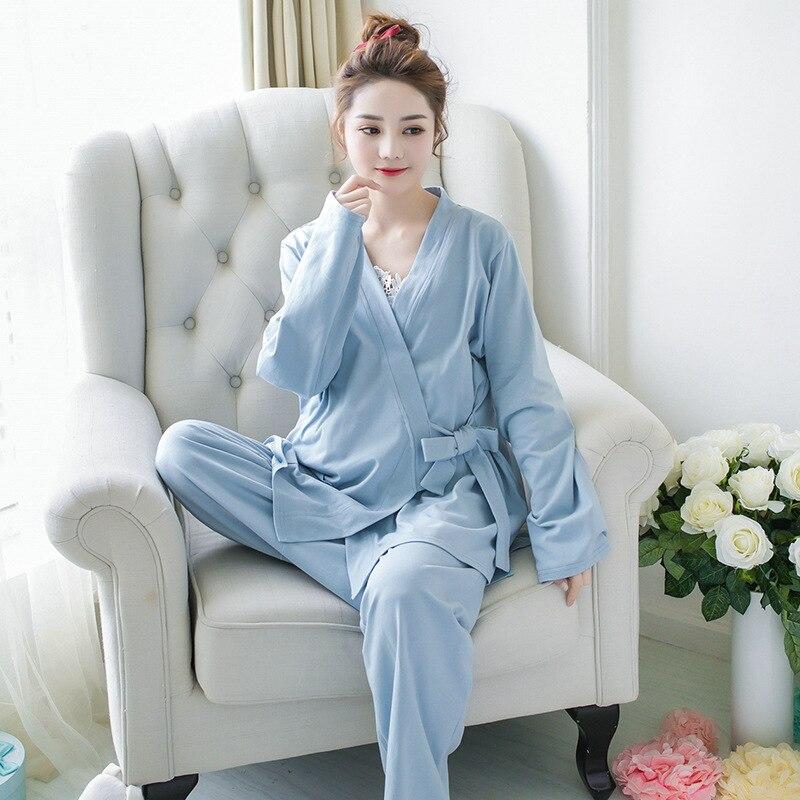 Spring Style Cotton Maternity Clothes Confinement Clothes Postpartum Pregnant Women Casual Home Clothes Nursing Clothes Pajamas enlarge