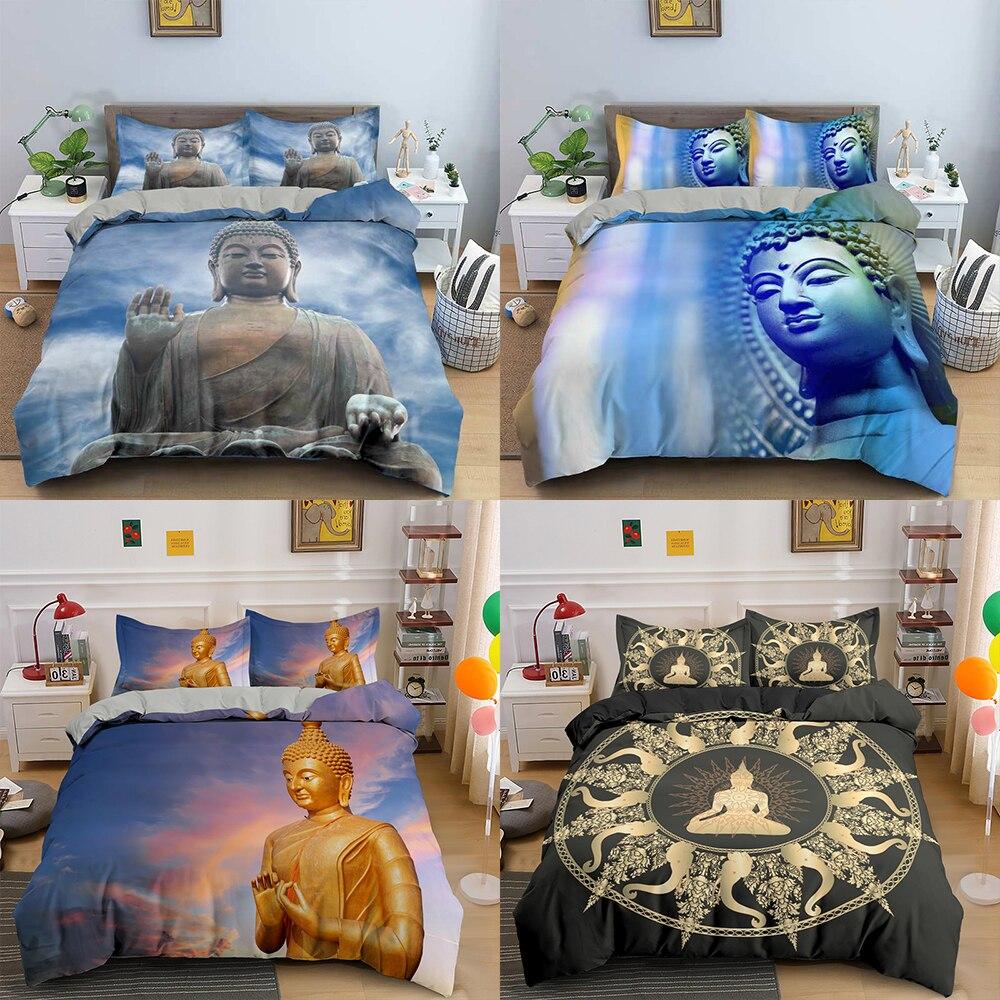 Комплект постельного белья ZEIMON Boho 3D, пододеяльник с принтом Будды для взрослых, постельное белье, комплекты постельного белья, пододеяльник...