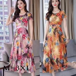 Summer Beach Dress 2020 Short Sleeve Woman Dresses Plus Size Women Floral Dress Ladies Backless Party Dress Female Vestidos#J30