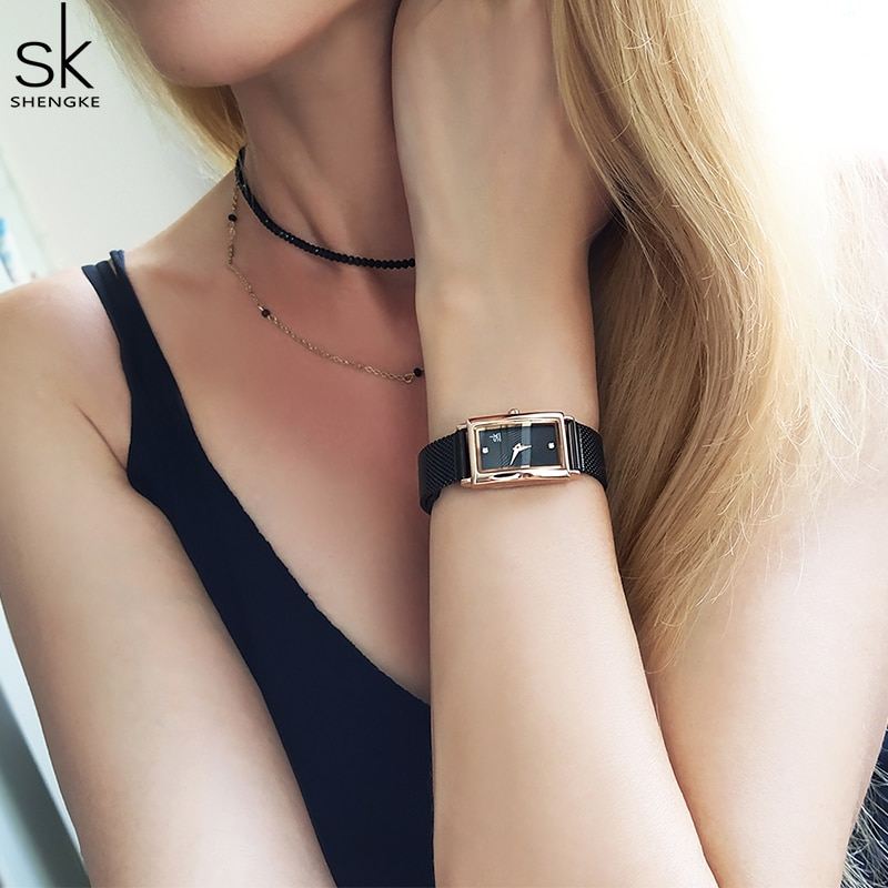 SK Simple Gold Women Watches Stainless Steel Fashion Quartz Watch Luxury Brand Wristwatches For Lady Clock New Style Relogio enlarge