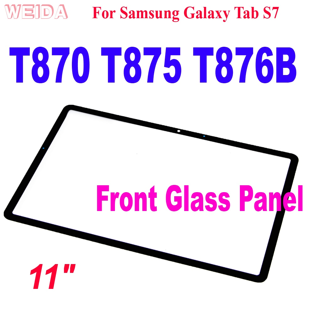 """11 0 lcd for samsung galaxy tab s7 t870 lcd display touch screen digitizer assembly for samsung sm t870 t875 t876b lcd screen 11"""" For Samsung Galaxy Tab S7 T870 SM-T870 T875 T876B Touch Screen Front Glass Panel for T870 Touch Glass Lens Replacement"""