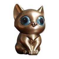 Подарок статуя кота полимерные украшения, мини художественные изделия, гладкая книжная полка для гостиной, кофейника, магазина, бара, офиса,...