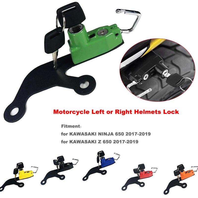 For KAWASAKI Z650 Z 650 NINJA 650 2017 2018 2019 Motorcycle Anti-theft Security Alloy Helmet Lock Mount Hook with 2 Keys