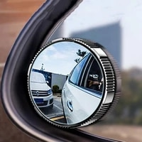 1pcs car rearview mirror 360 degree rotation wide angle spot mirror for car reverse vehicle parking round mirror accessories