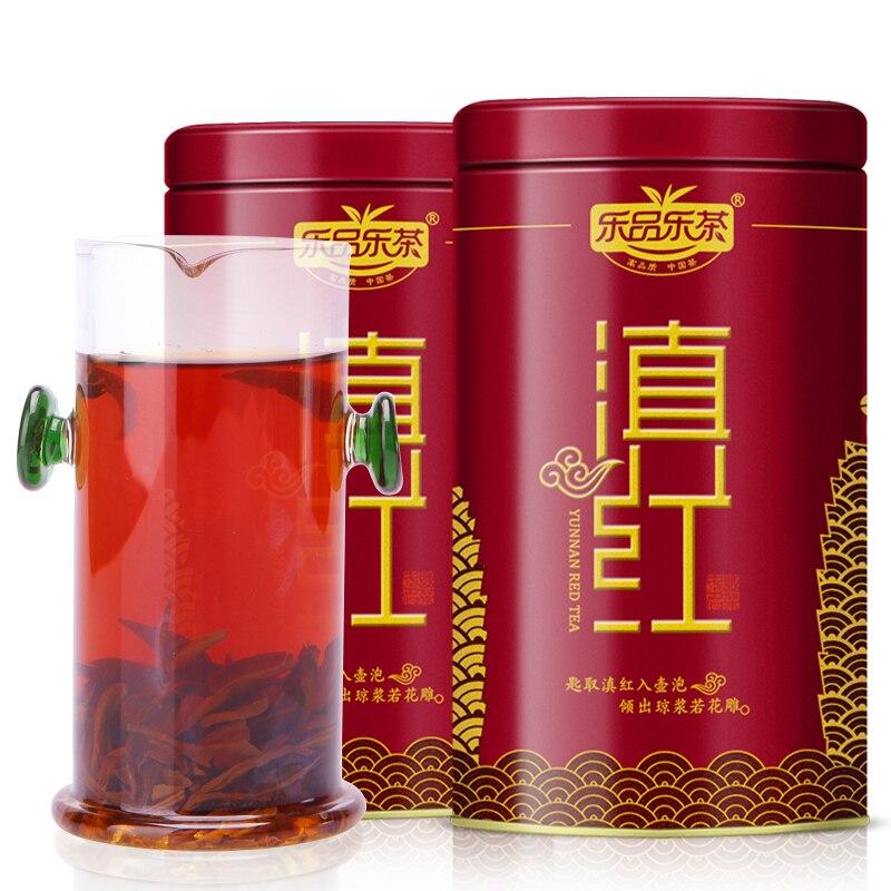 2 pçs 80g dian hong vermelho biluochun kung fu yunnan fengqing preto chá superior grau 160g ouro bud dianhong bi luo chun