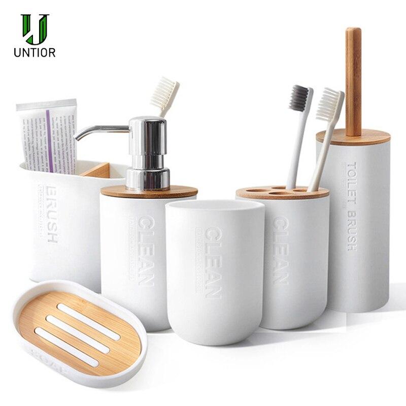 Escova de Dentes para Banheiro Acessórios de Decoração de Banheiro e Sabonete Porta Untior
