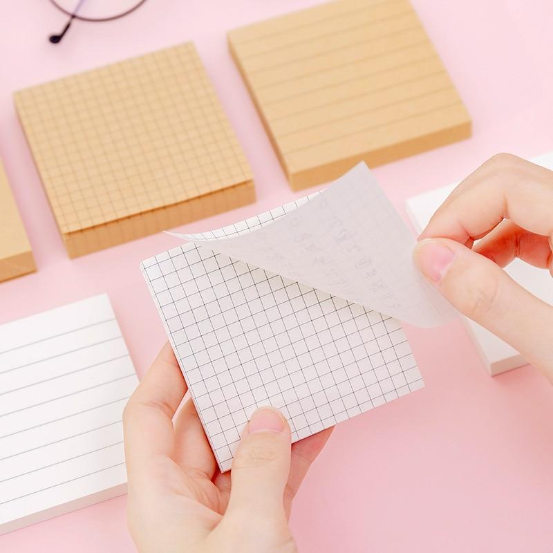 80 hojas diarias agenda adhesiva nota fácil de hacer cuadrícula en blanco papel Bloc de notas estudiantes papelería portátil Oficina escuela