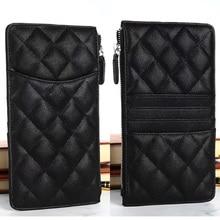 CC-12 Luxury Caviar Phone Bag Leather Long Wallet Designer brand Clutch Card Holder Purse Golden Har