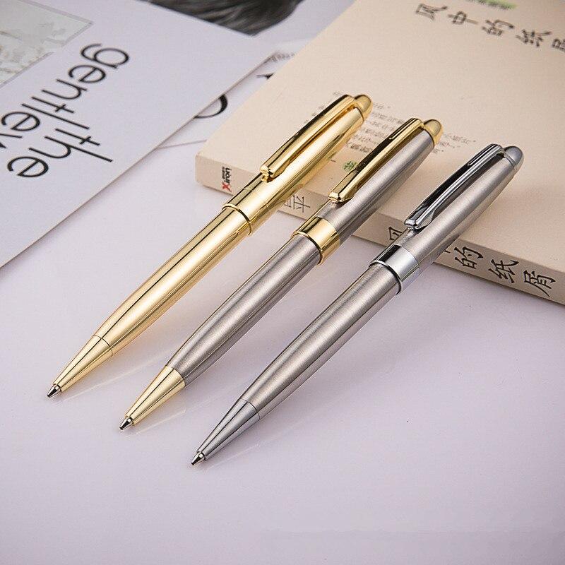 Металлическая шариковая ручка 1,0 мм, Высококачественная ручка для деловых подписей, черная чернильная шариковая ручка, креативный подарок, ...