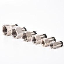 "Tuyau flexible PCF ""OD 4 6 8 10 12mm-1/8, 1/4 , 3/8, 1/2 , BSP, Tube pneumatique coude mâle, raccord dair"